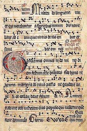 partition musique gregorienne